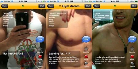 Racist desires expressed on Grindr